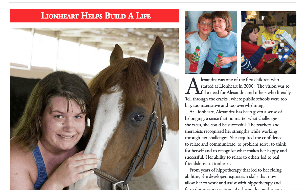 lionheart school - autism - special needs - private school - special education - atlanta - hippotherapy - occupational therapy